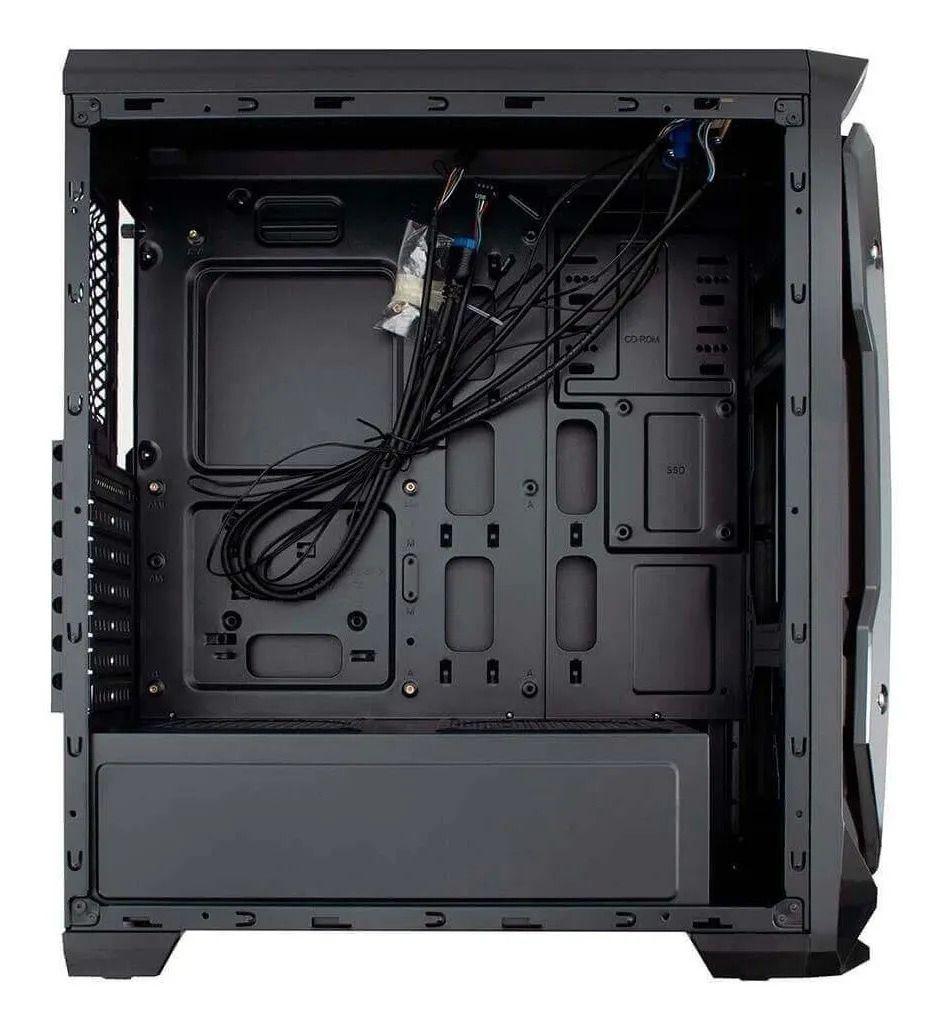 Gabinete para PC Gamer Preto com Lateral em Acrílico EG801 Evolut