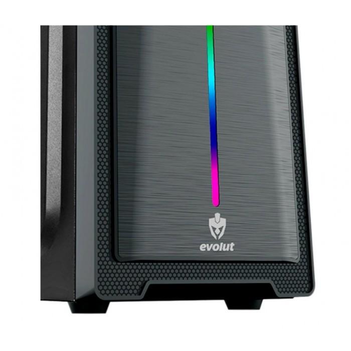 Gabinete Gamer Preto com LED RGB Frontal EG-805 Evolut