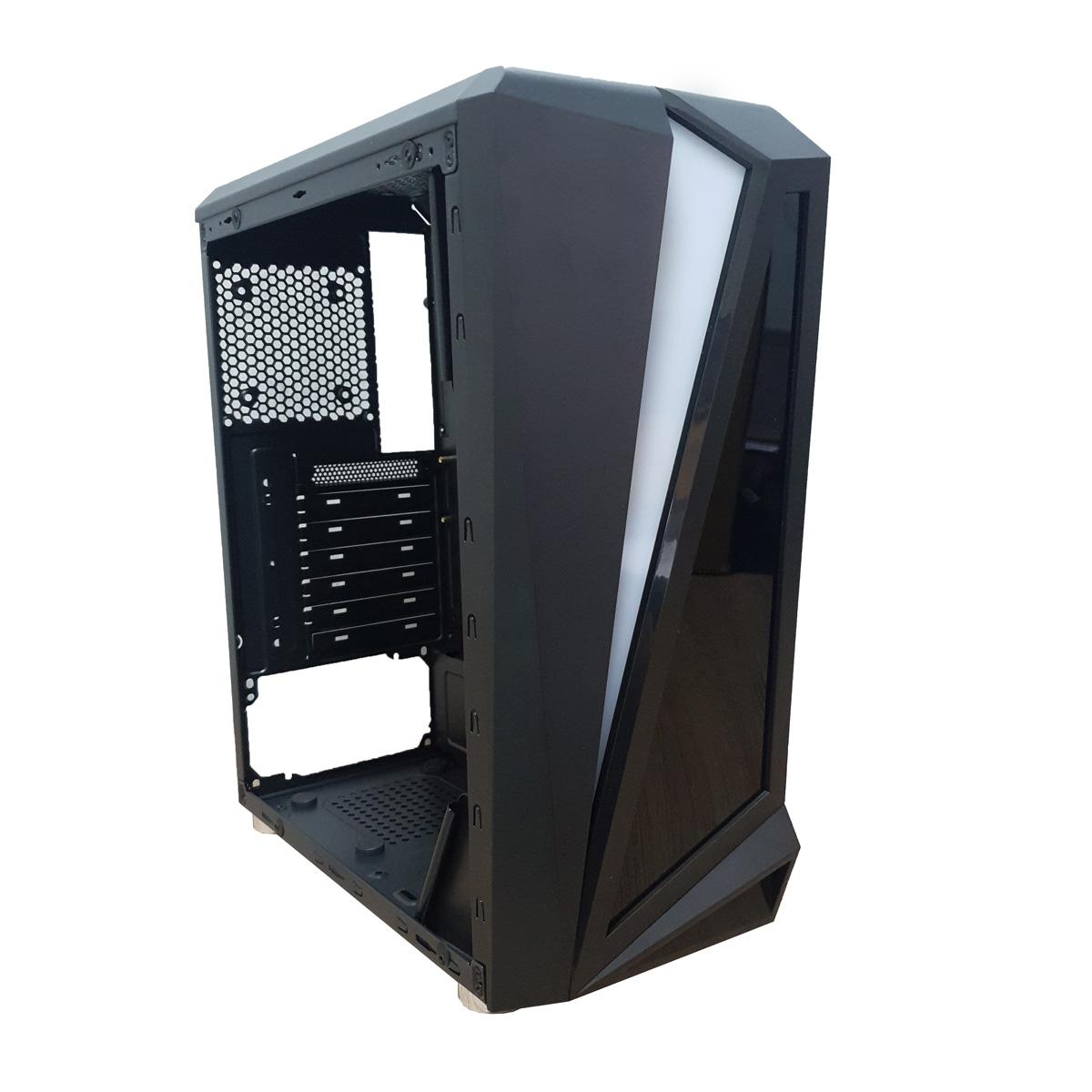 Gabinete Para PC GAMER com LED RGB BLACK HAWK CG-05QI K-MEX