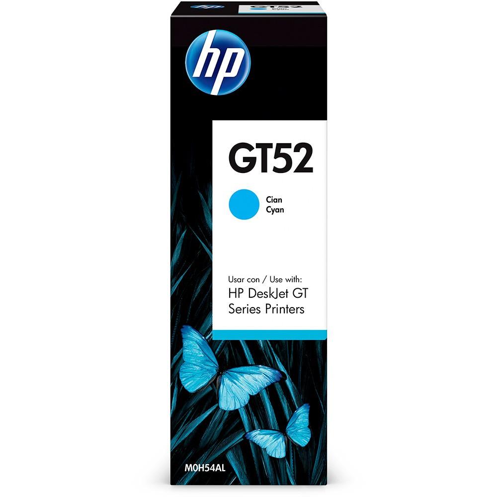 Garrafa refil de Tinta HP M0H54AL GT52 GT 5810 5820 5822 Ciano 70ML