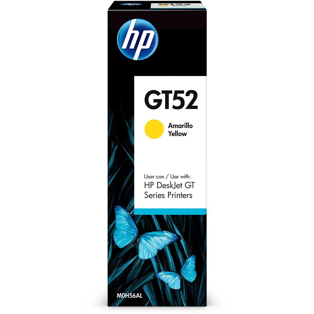 Garrafa refil de Tinta HP M0H56AL GT52 GT 5810 5820 5822 Amarelo 70ML