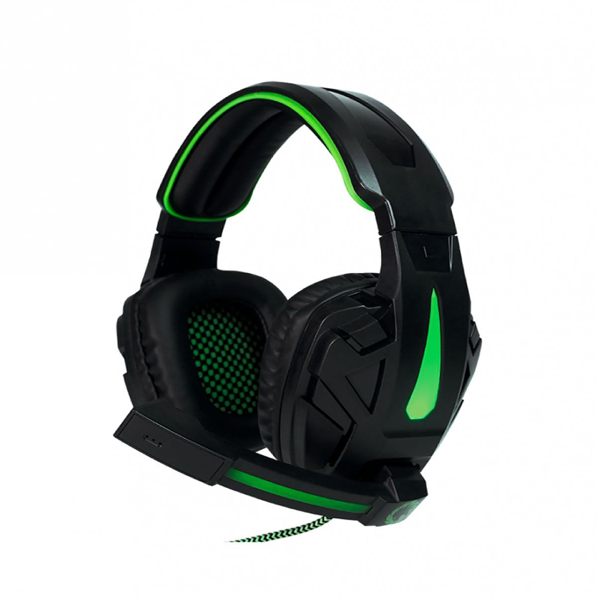 Headset Gamer Preto com LED Verde Gamemax H8657