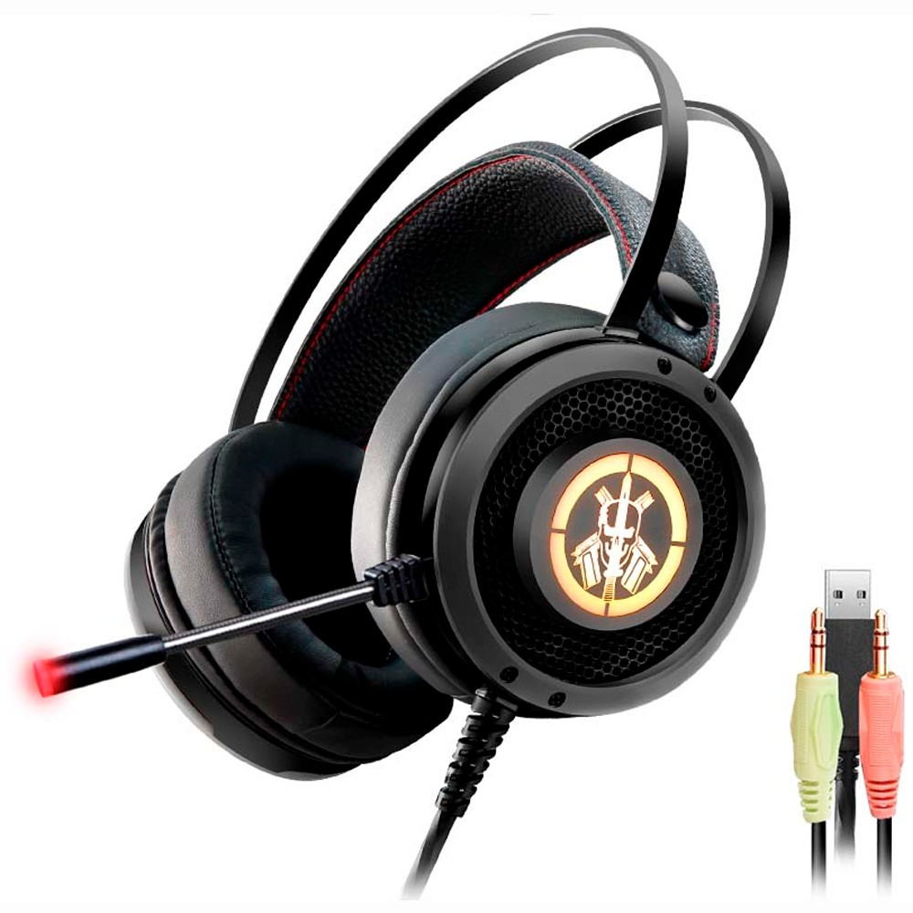 Headset Gamer LED USB Fone e Microfone AR50 Gaming Master