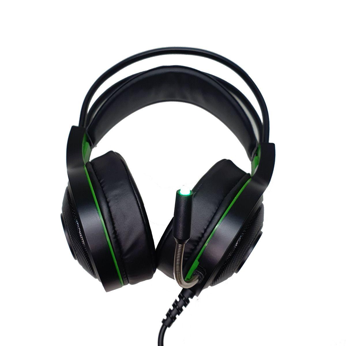 Fone de Ouvido Headset Gamer Verde EG301GR Têmis Evolut