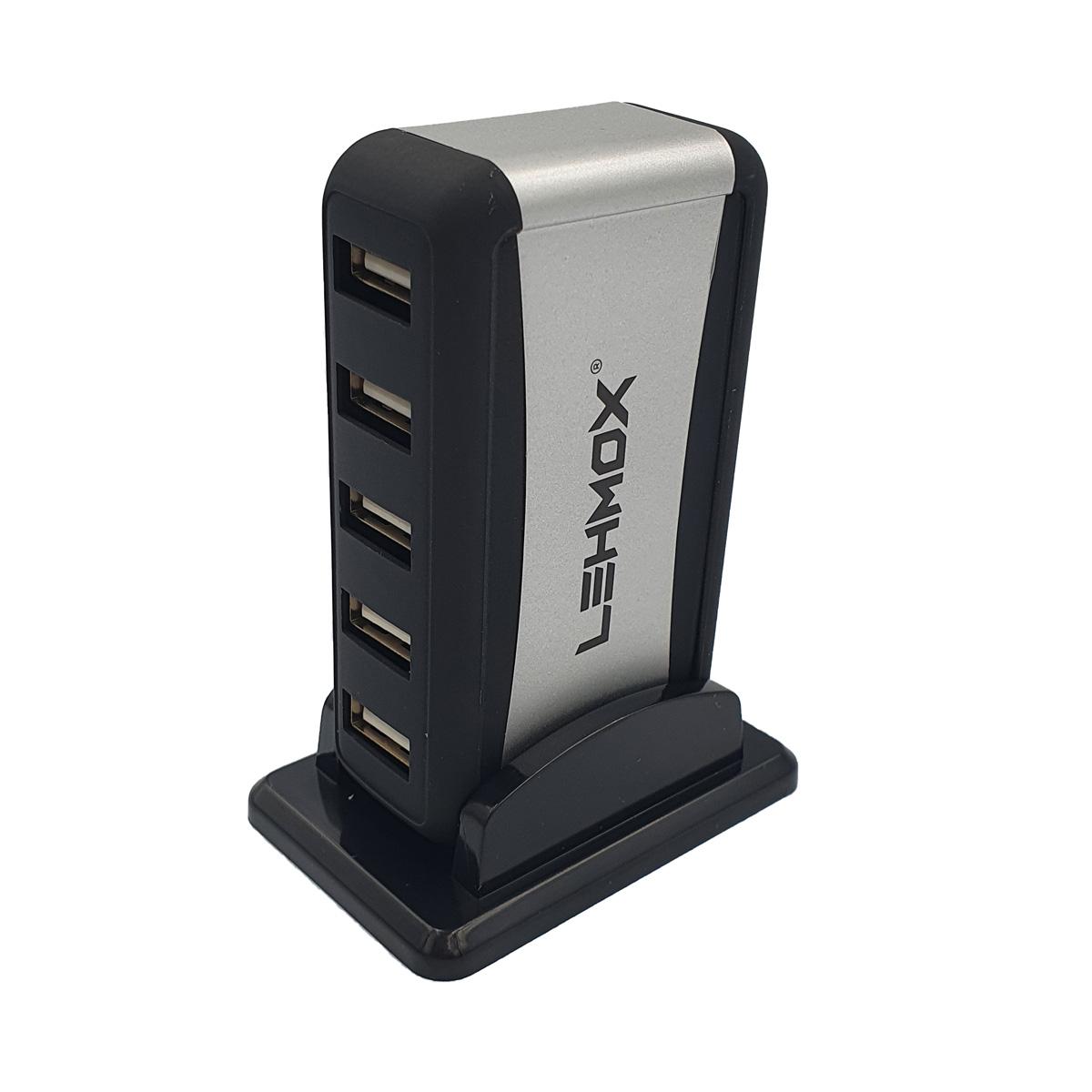 Hub Com 7 Portas USB High Speed 480mbps com Fonte Bivolt LEY-88