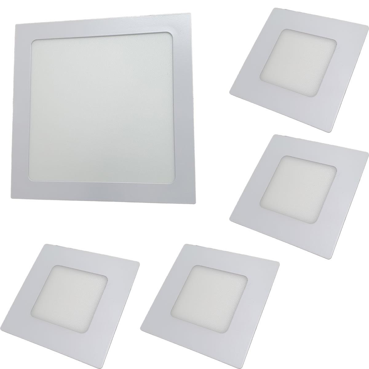 Iluminação banheiro Kit Luminárias 18W e 4 x 3W Luz Fria Embutir