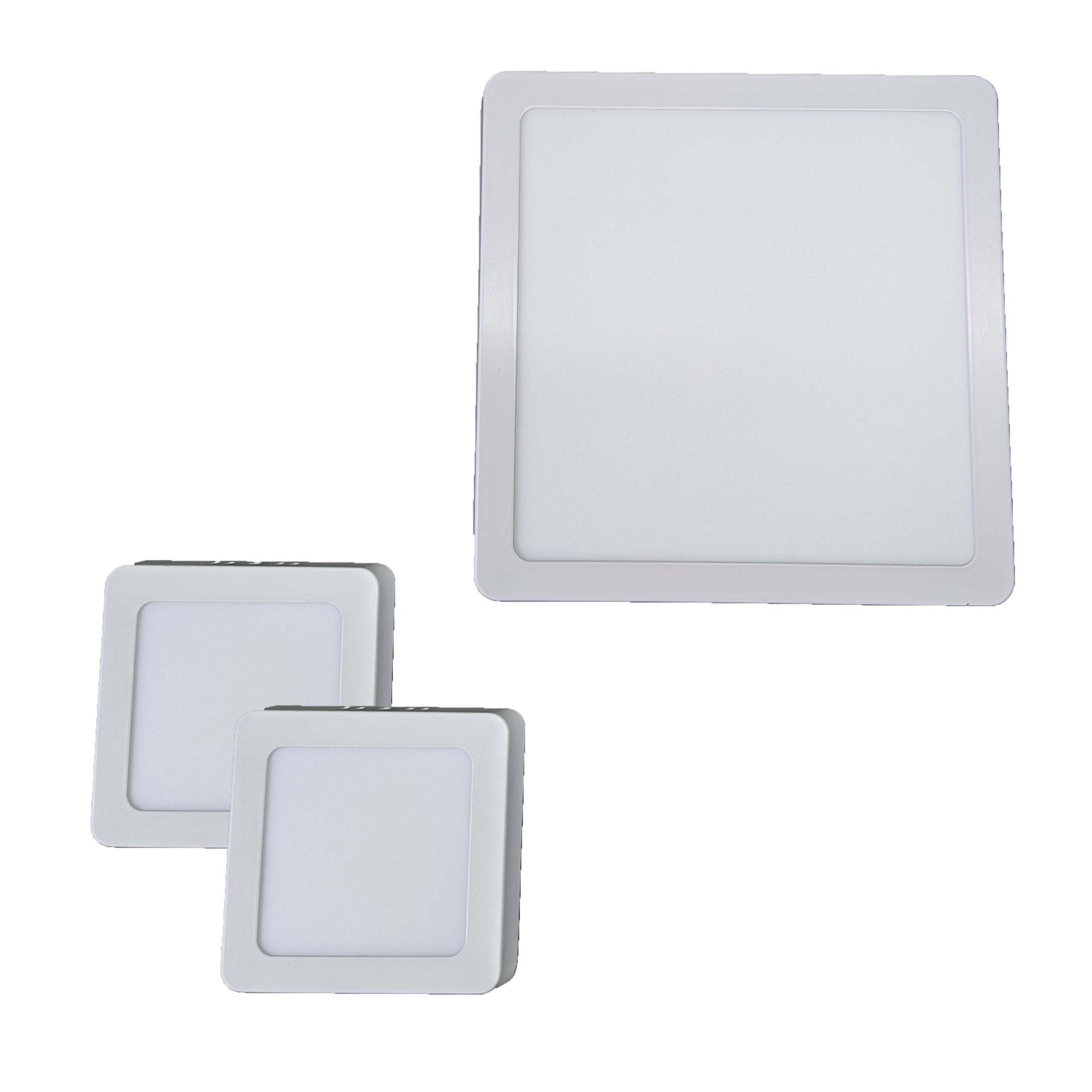 Iluminição banheiro Kit Luminárias 18W e 2 x 6W Luz Fria Sobrepor