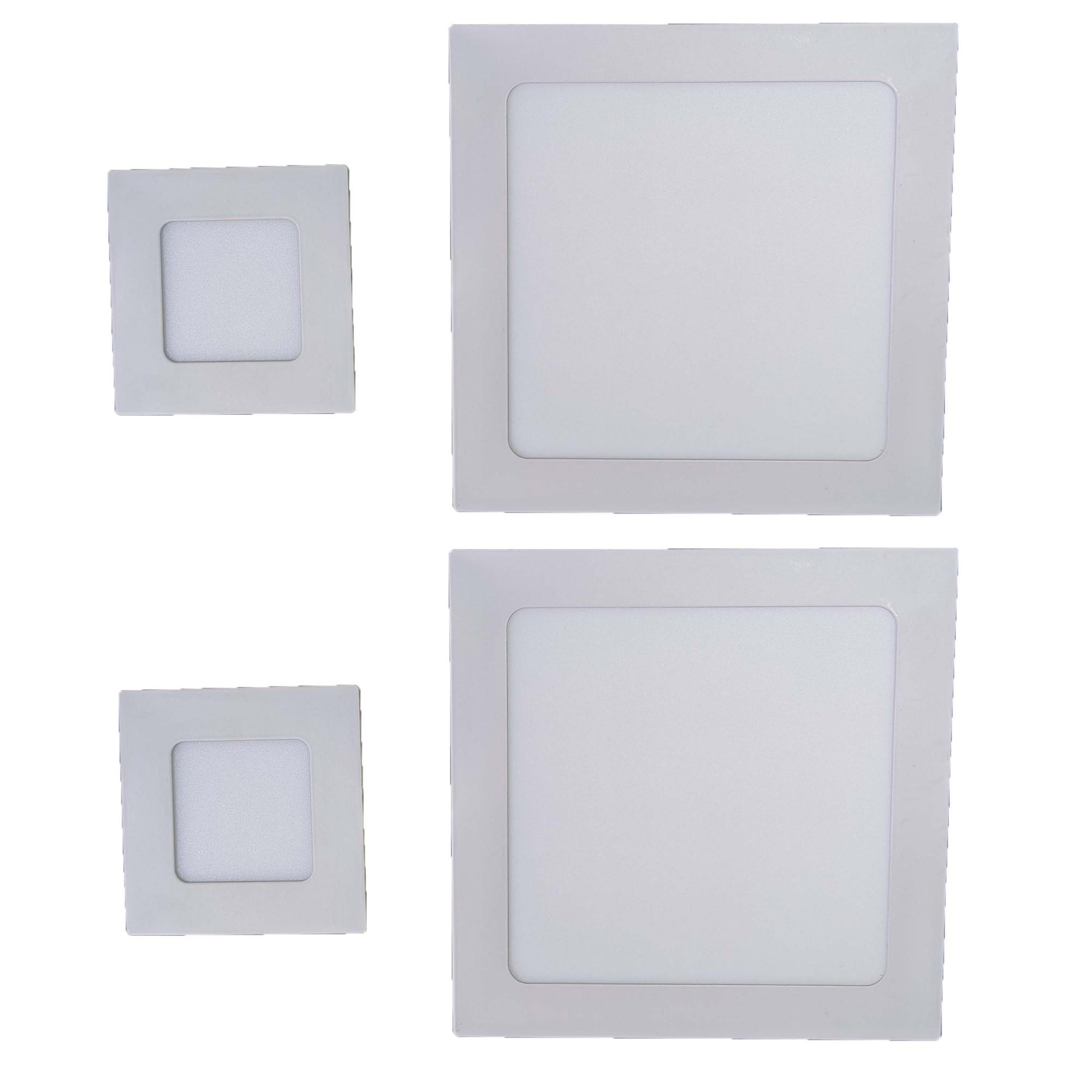 Iluminição banheiro Kit Luminárias 2 x 12W e 2 x 3W Luz Fria Embutir