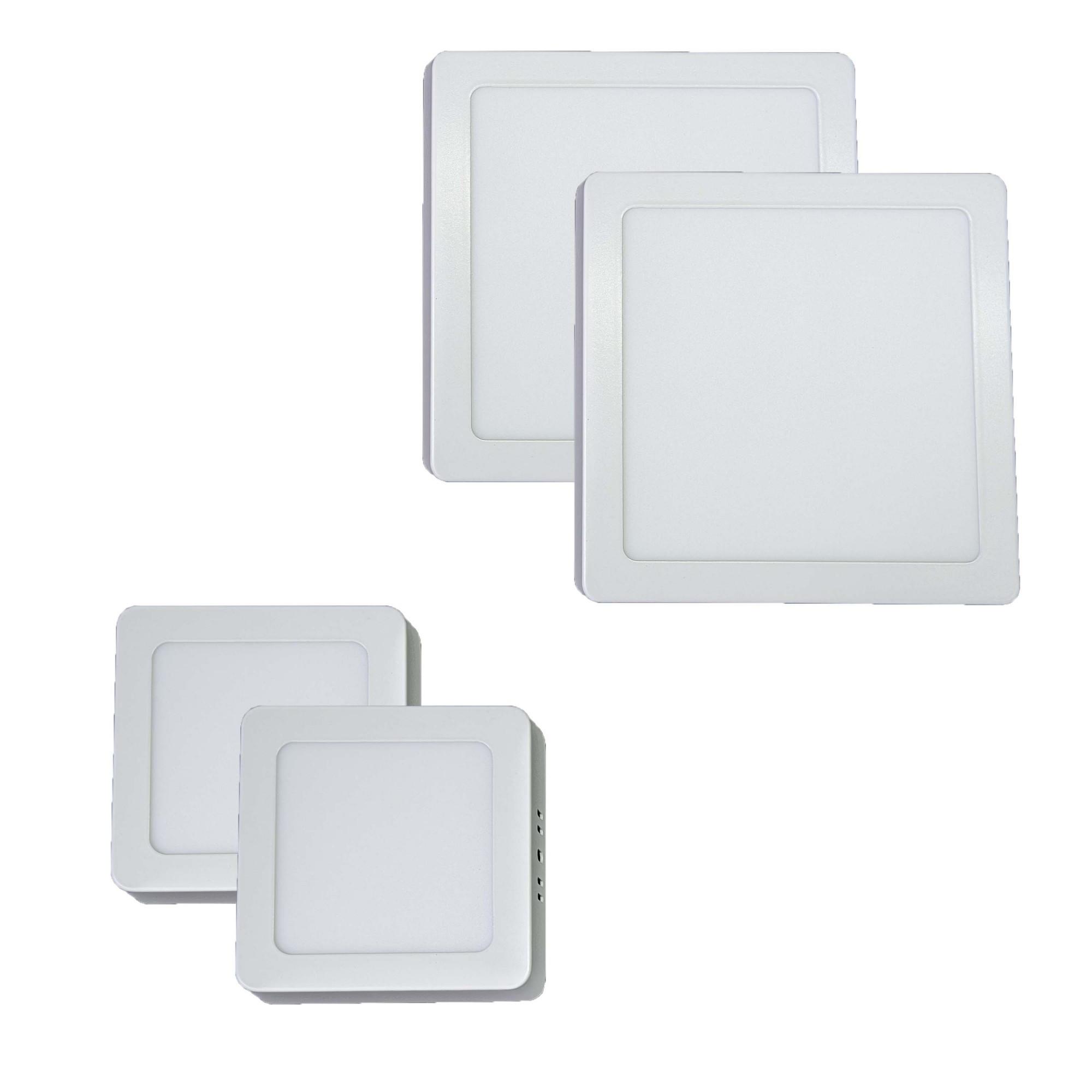 Iluminição banheiro Kit Luminárias 2 x 18W e 2 x 6W Luz Fria Sobrepor