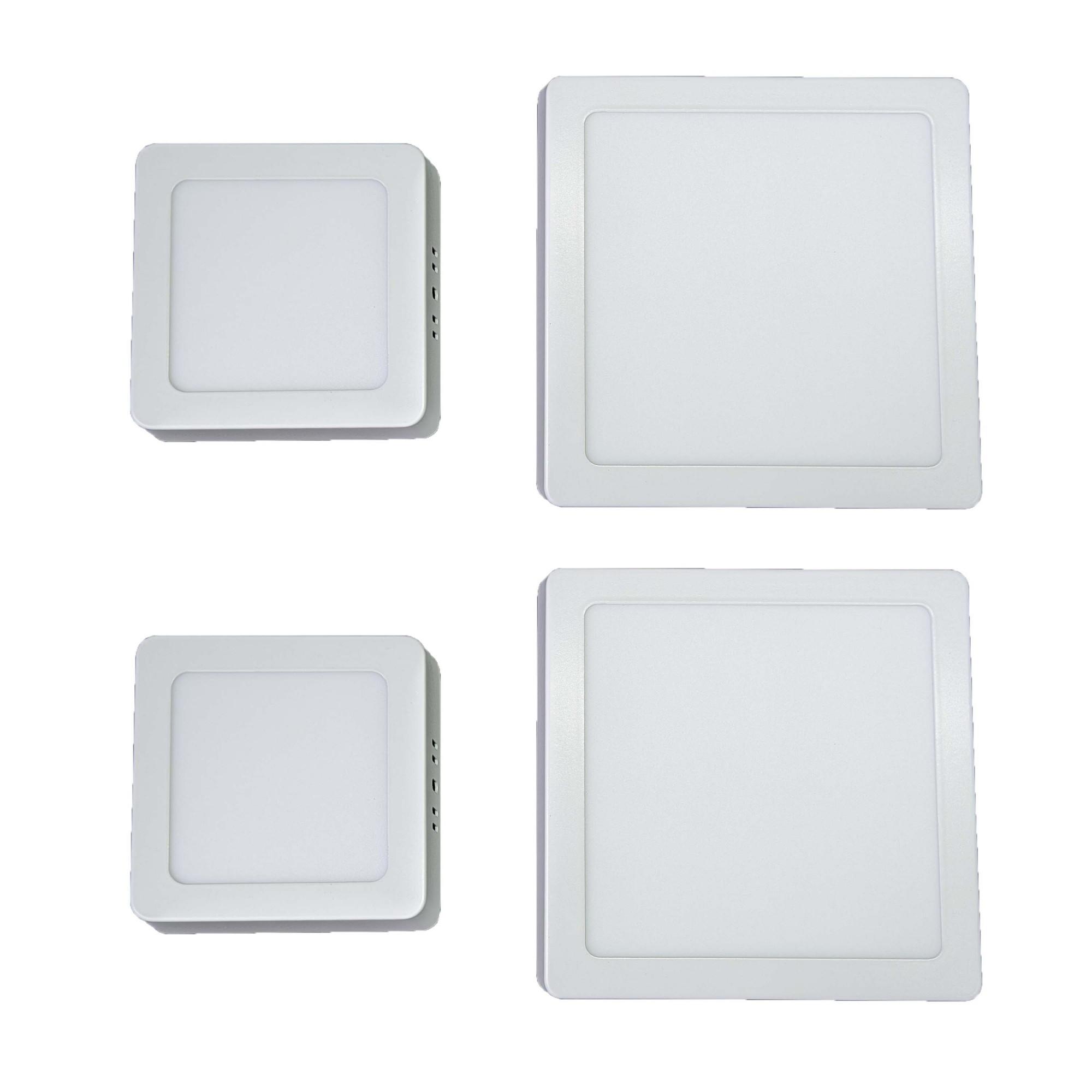 Iluminação banheiro Kit Luminárias 2 x 18W e 2 x 6W Luz Fria Sobrepor