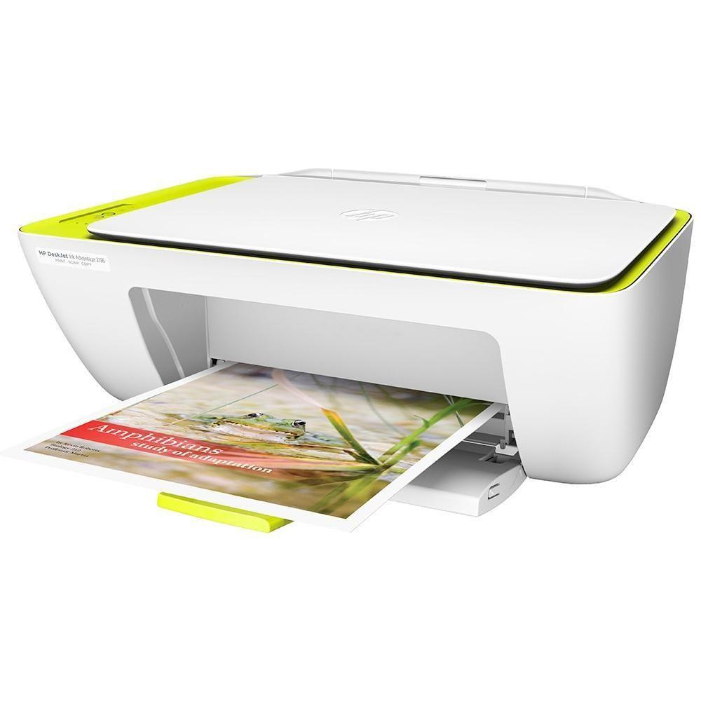 Impressora Multifuncional HP DeskJet 2136 Jato de Tinta