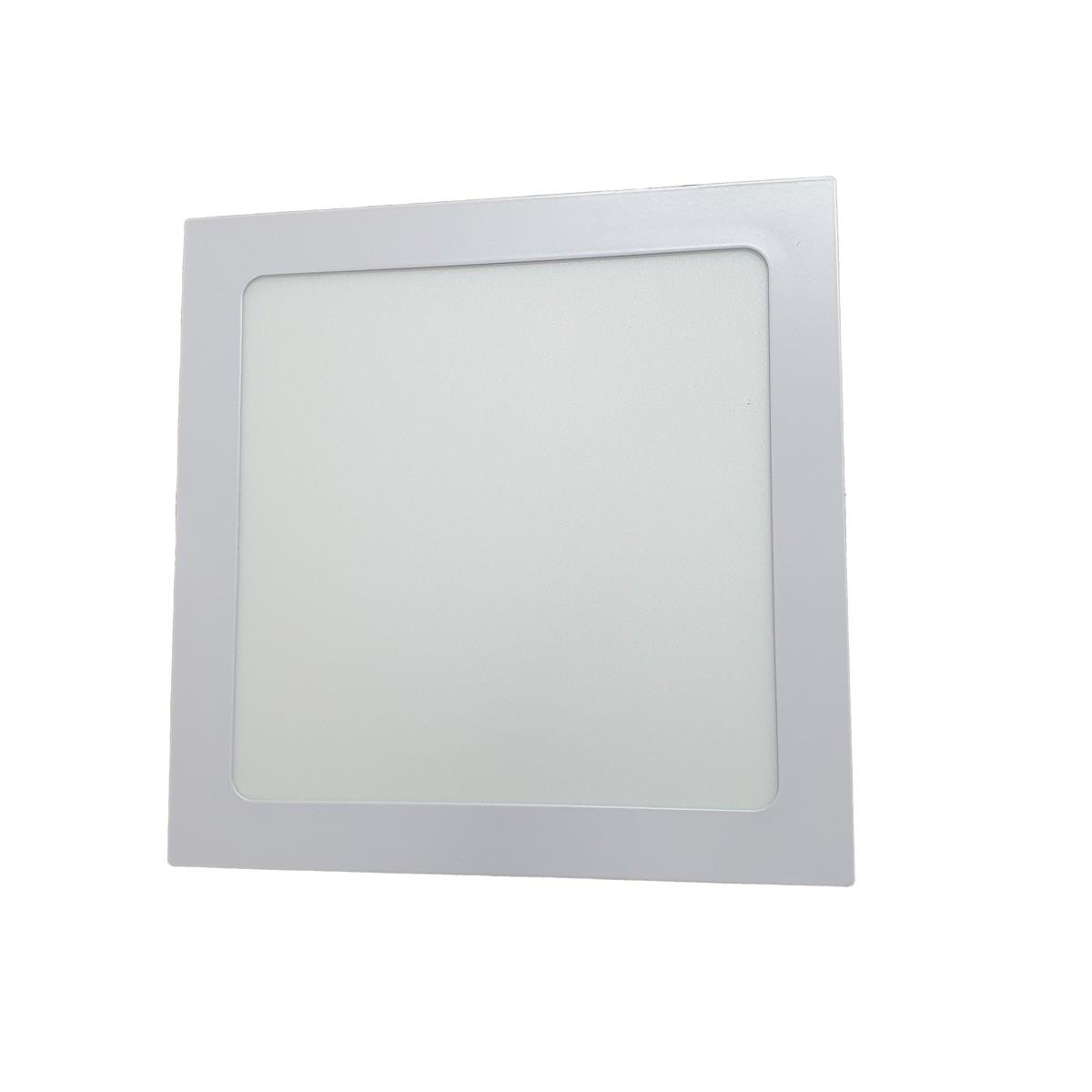 KIT 10 Painel Plafon LED 18W Quadrado Luz Branca Fria de Embutir