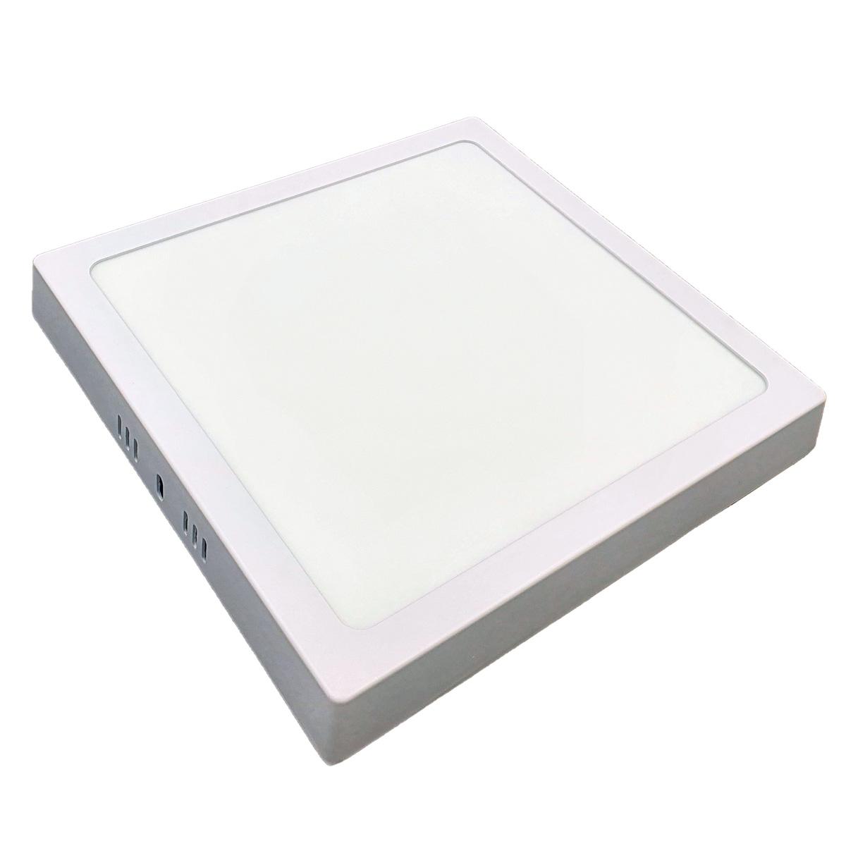 KIT 10  Painel Plafon LED 18w Quadrado Sobrepor Branco Frio Luminária