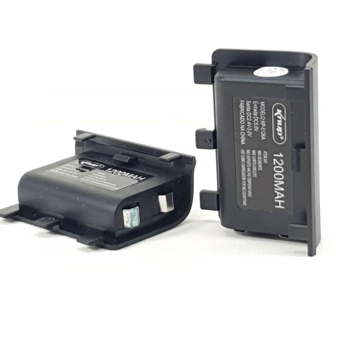 Kit 2 baterias recarregável com carregador para controle Xbox One