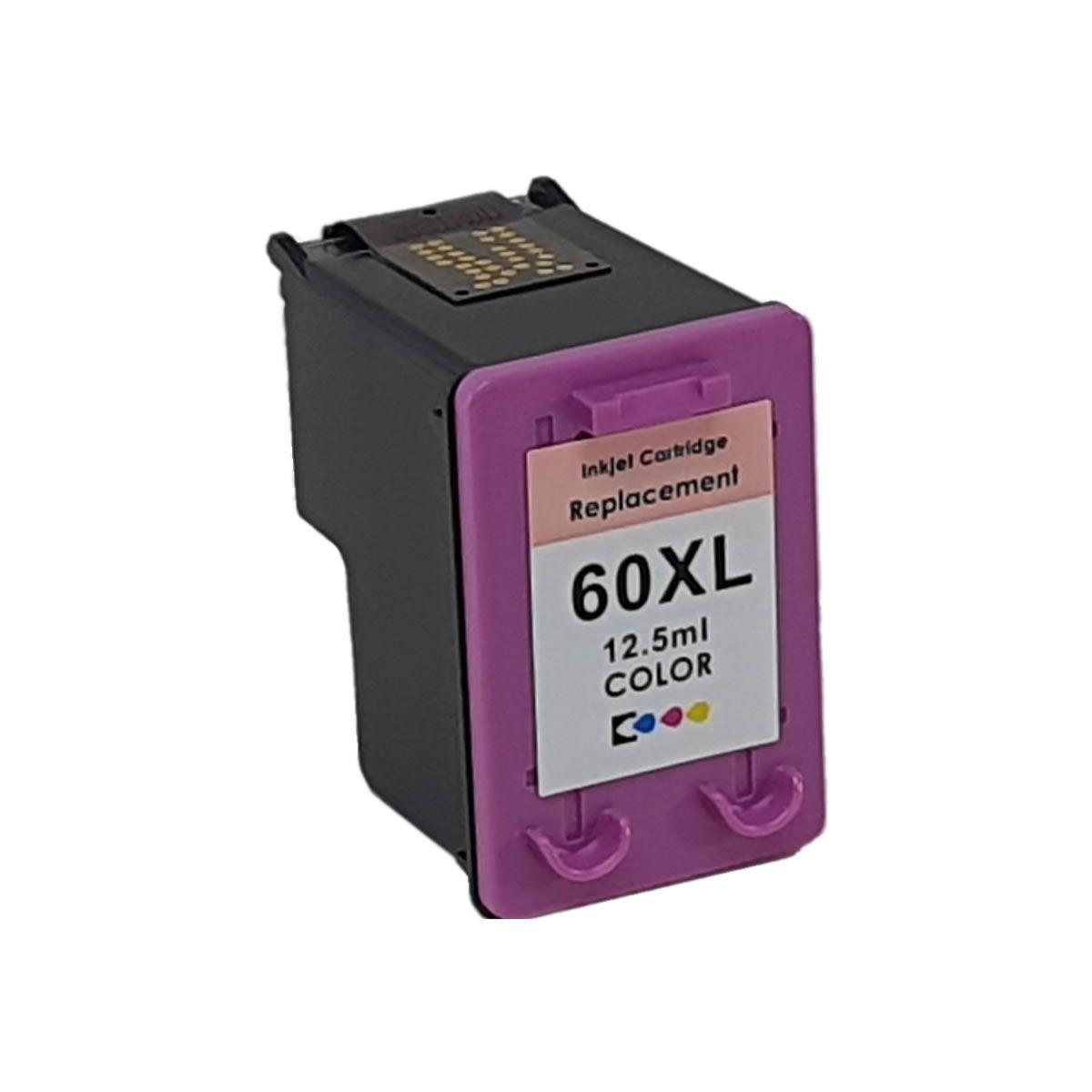Kit 2 Cartucho 60xl Compatível com D1660 F4280 F4580 C4680 D110 da HP