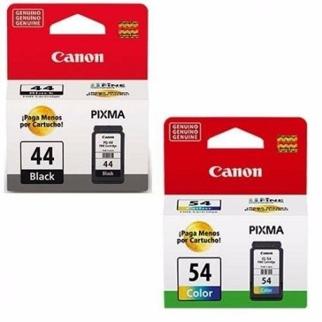 Kit 2 Cartucho Canon PG44 PG-44 PG-44 CL54 CL-54 para Pixma E401 E461 E481