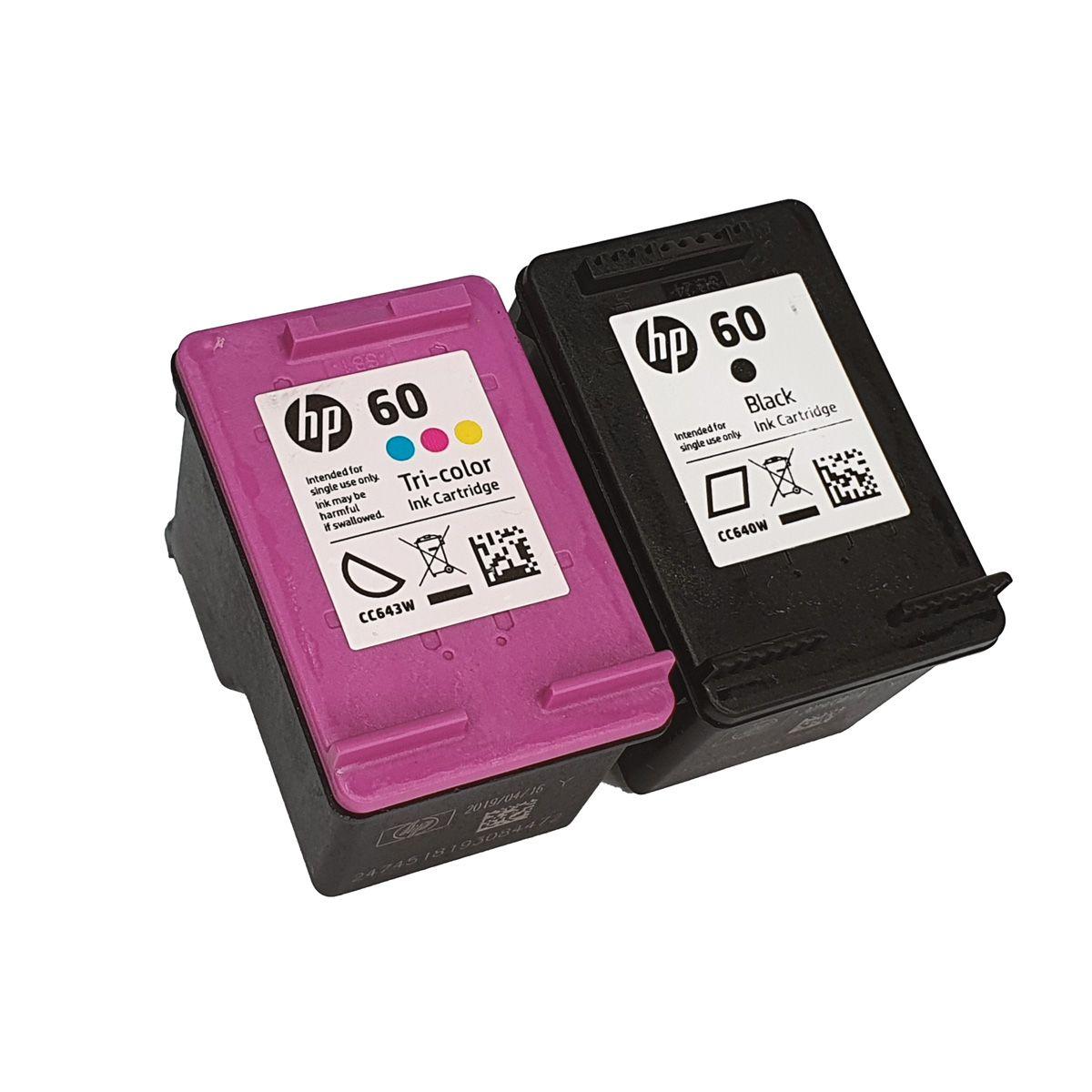 Kit 2 cartucho HP 60 Preto e Colorido para D1660 F4280 F4480 F4580 C4680 D110