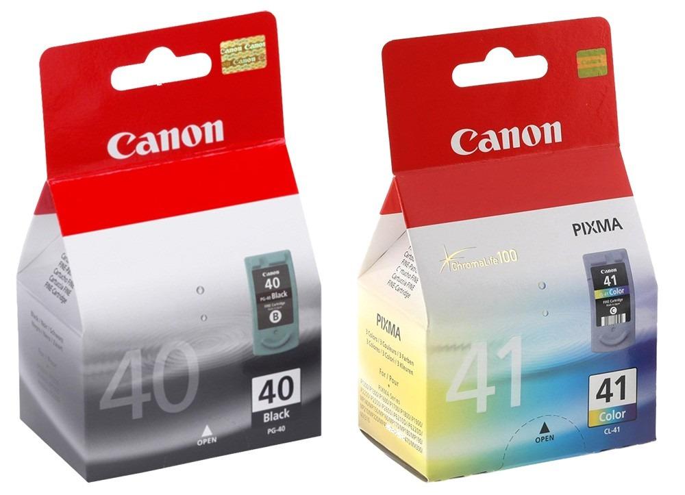 Kit 2 Cartucho Pg40 Pg-40 Cl41 Cl-41 Para Canon Ip1200 Ip1800 Mp160 P450