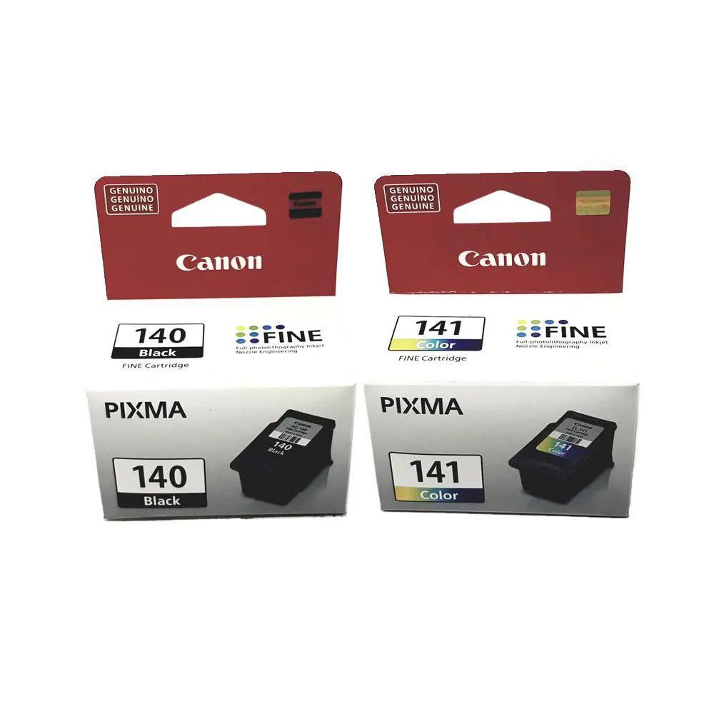 Kit 2 cartuchos Canon PG140 Preto e CL141 colorido para MG3210 MG3210 MG4110