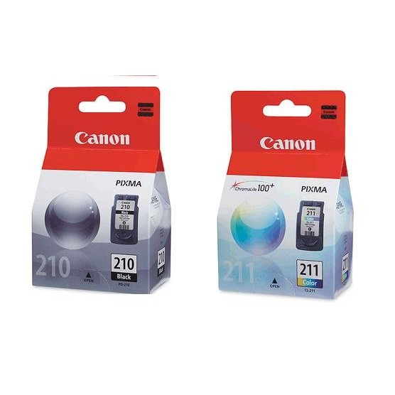 Kit 2 Cartuchos Canon Pg210 Pg 210 Cl211 Cl 211 Para MP240 MP250 MP260 MP490