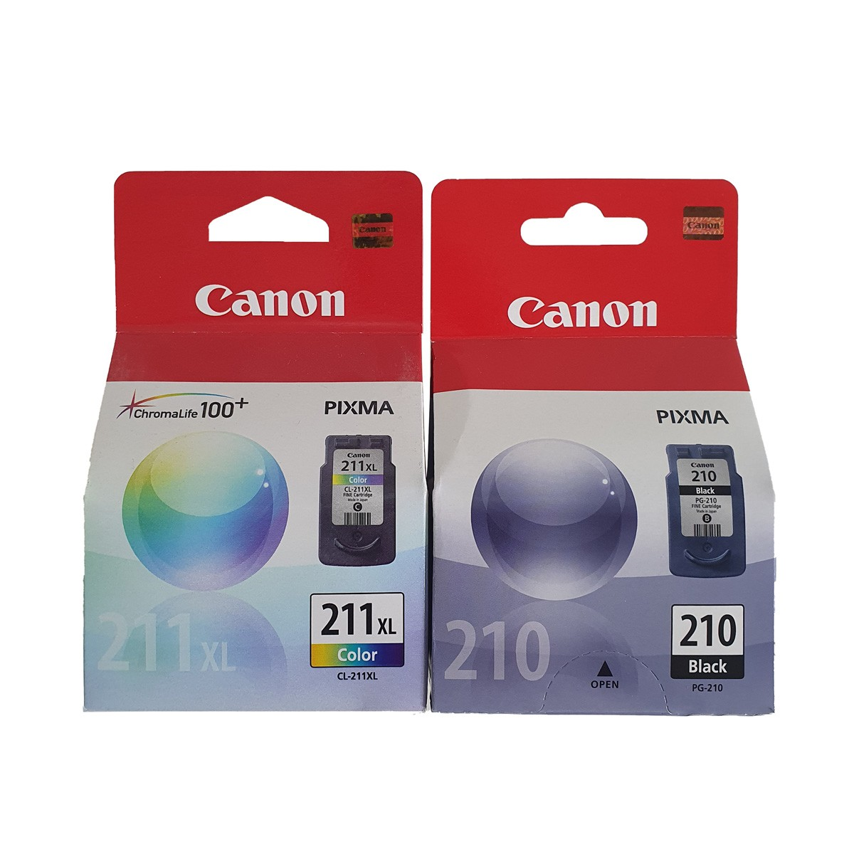 Kit 2 cartuchos Canon PG210 Preto e CL211XL Colorido para MP240 MP250 MP260 MP490 MP480