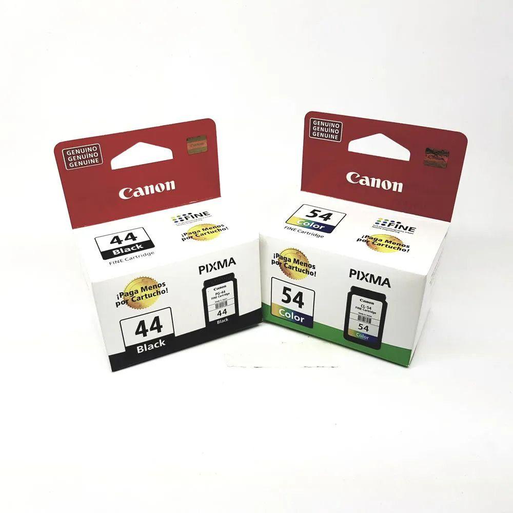 Kit 2 cartuchos PG44 preto e CL54 colorido Canon para E401 E461 E481