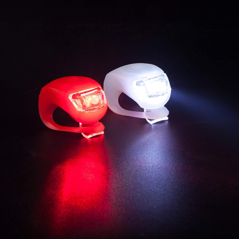 Kit 2 Faróis LEDs dianteiro e traseiro para Bicicleta XR008-2