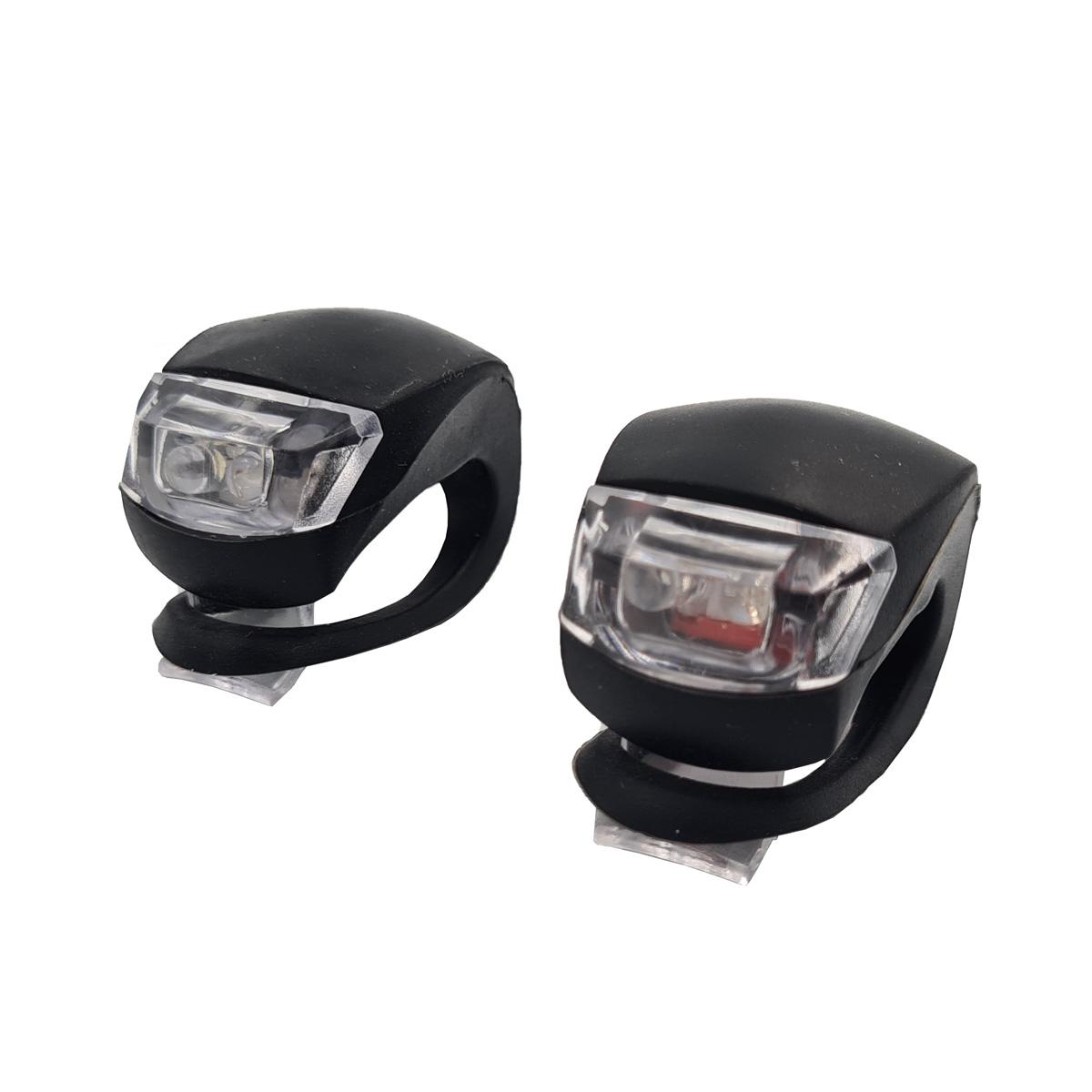 Kit 2 Farol lanterna LEDs Dianteiro e Traseiro lanterna para Bicicleta HJ008-2 LifetimeLED