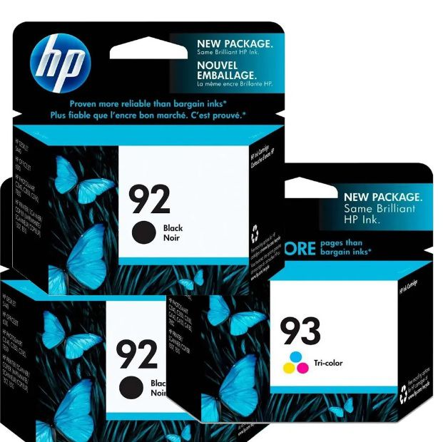Kit 2 HP92 preto e 1 HP93 colorido para 5440 6310 3180 1507