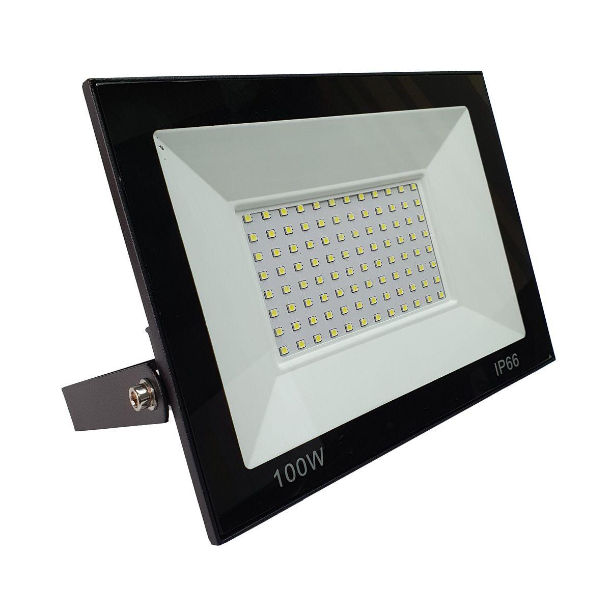 KIT 2 refletor 100w LED SMD Holofote Bivolt Externo Luz Branca