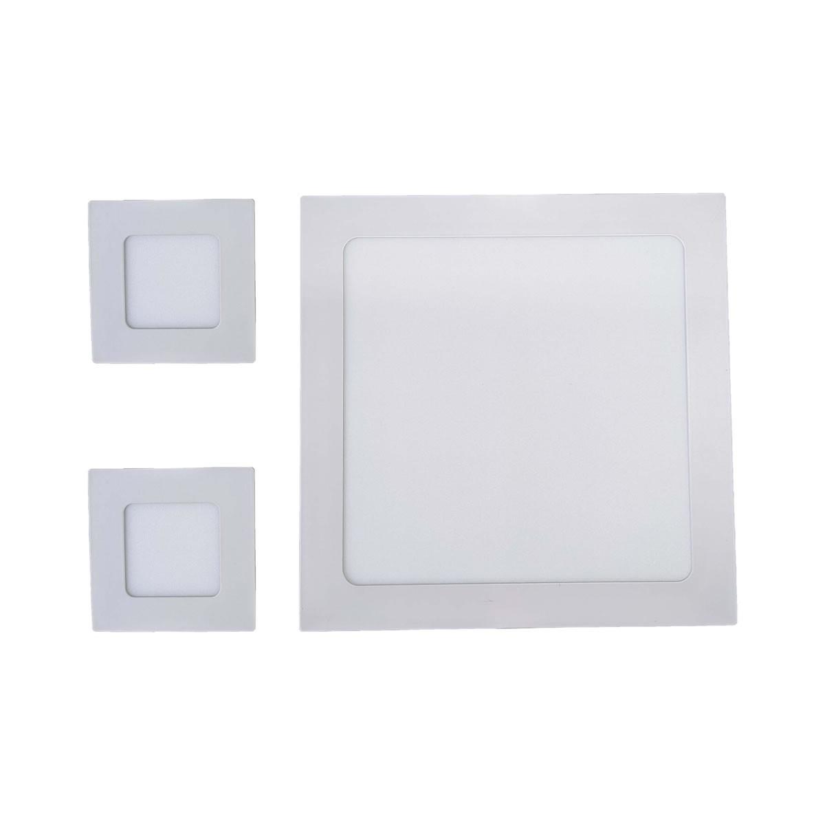 Iluminição banheiro Kit Luminárias 18W e 2 x 3W Luz Fria Embutir
