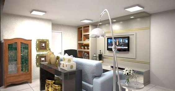 KIT 3 Painel Plafon LED 24w Quadrado Sobrepor Branco Frio Luminária