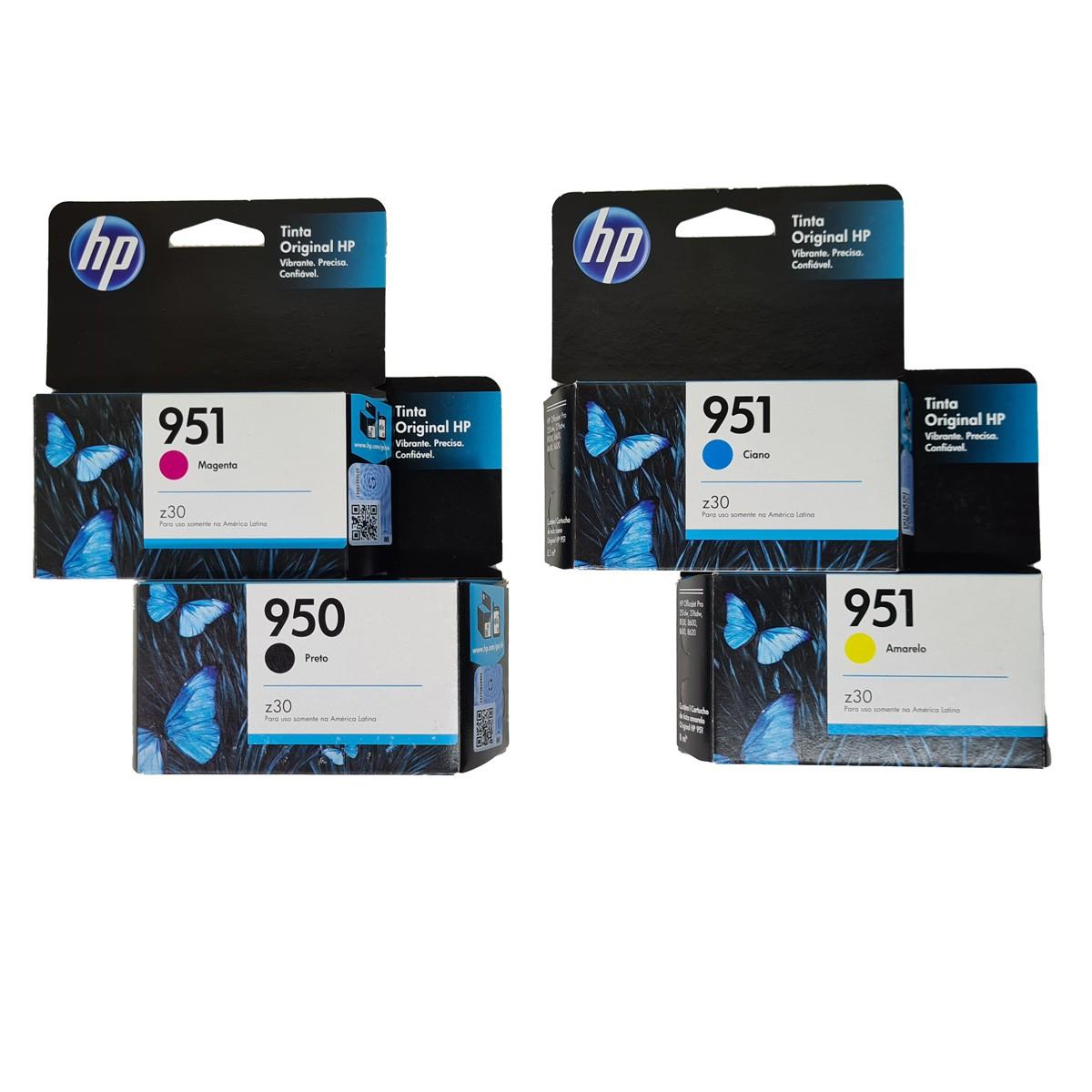 Kit 4 Cartucho HP 950 e 951 para OfficeJet pro 8100 8600 pro8600