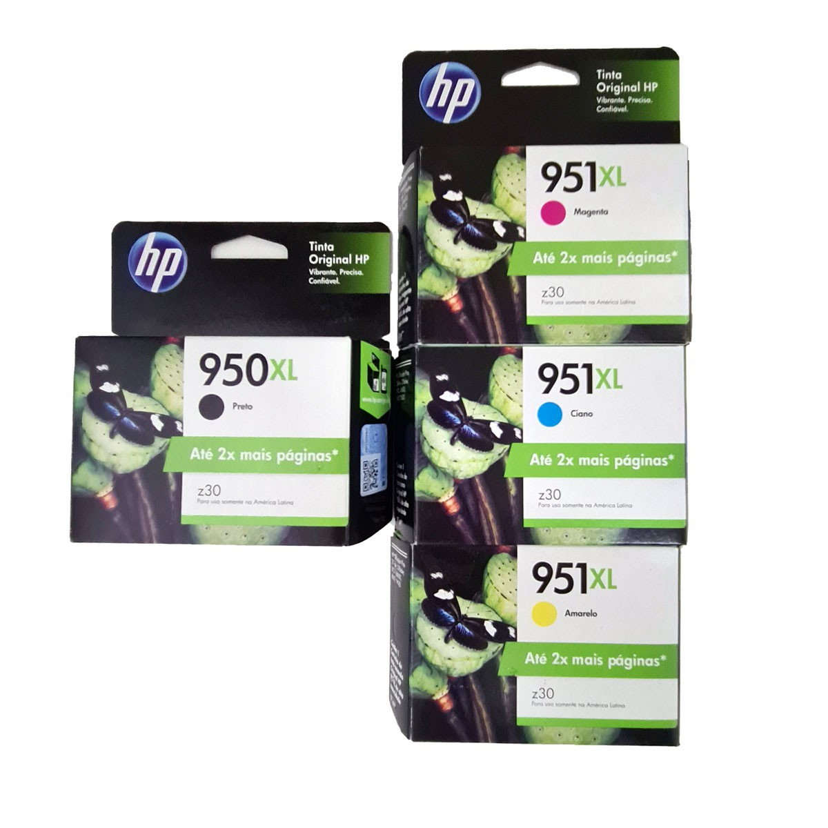 Kit 4 Cartucho HP 950XL 951XL para OfficeJet 8100 8600
