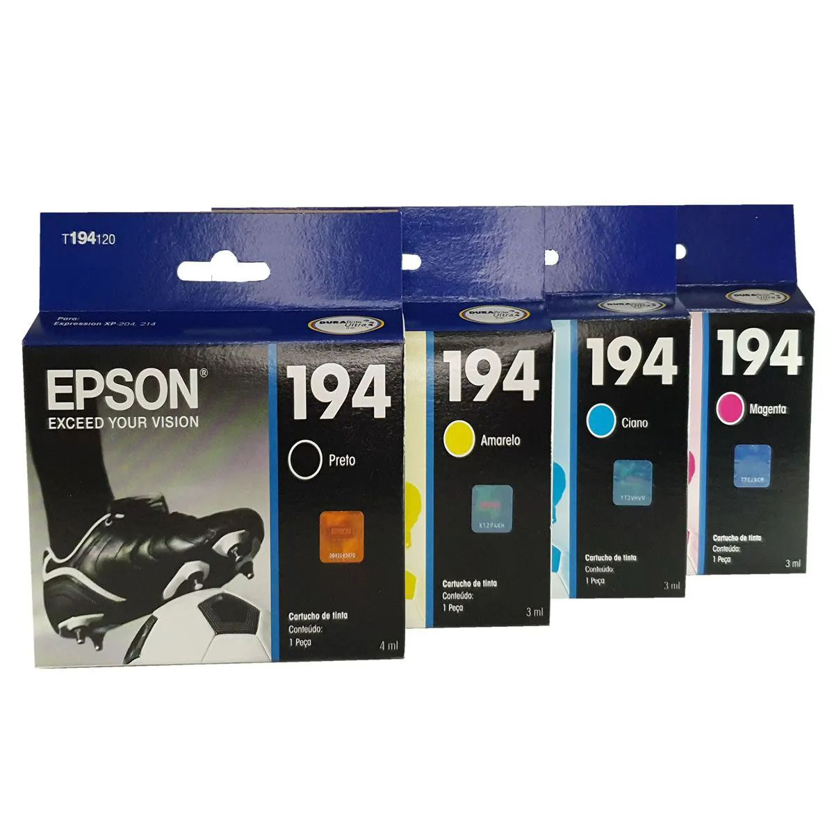 Kit 4 Cartuchos EPSON 194 T194 para Xp104 Xp204 XP-204 104
