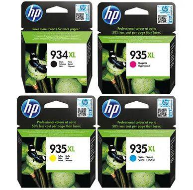 Kit 4 Cartuchos HP 934XL e 935XL para Officejet PRO 6230 6830