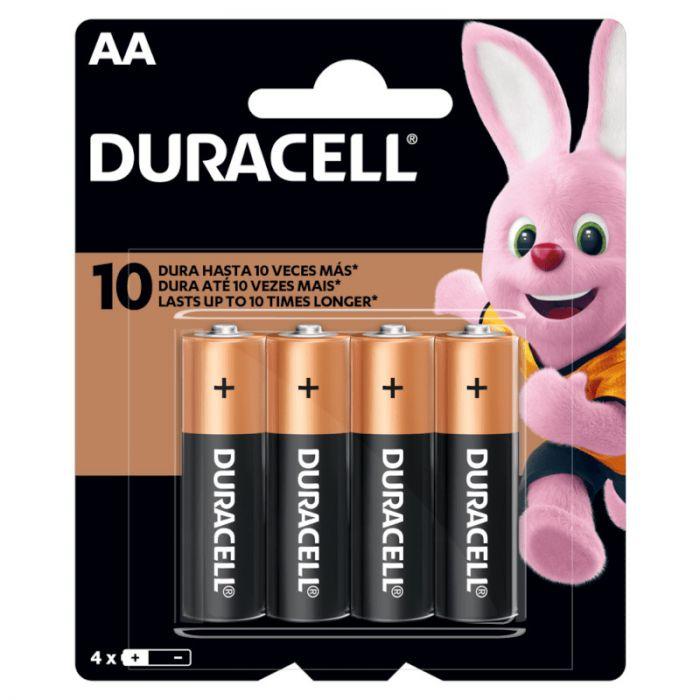 Kit 4 Pilhas AA Alcalina 1.5V Duracell