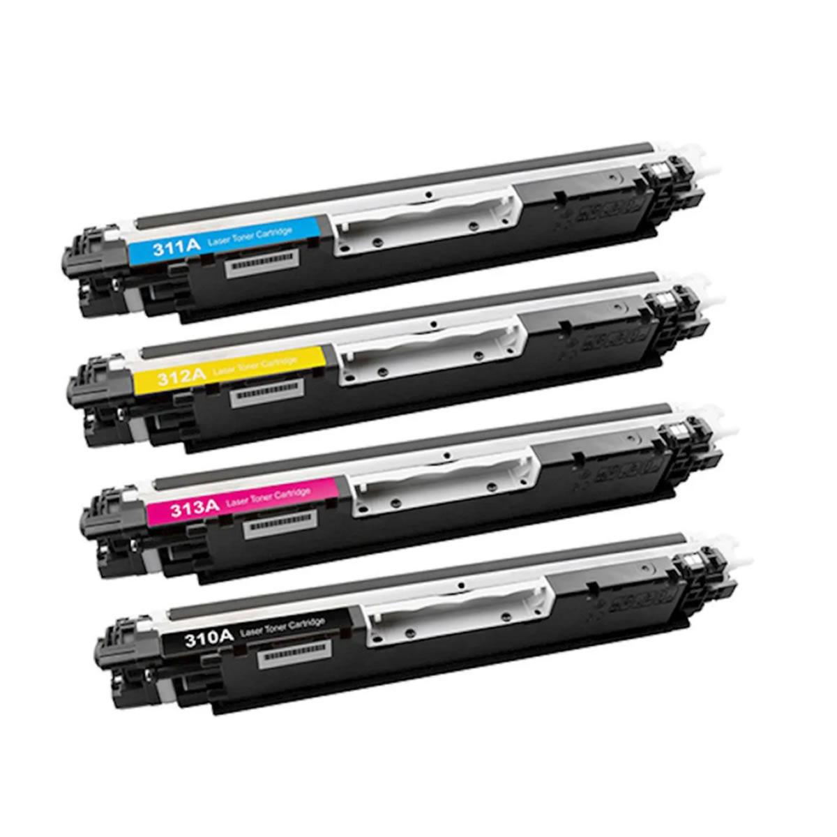 Kit 4 Toner 126a CE 310 311 312 313 Chinamate Compatível com impressoras Laser Jet Cp1025 M175 Ce310 da HP