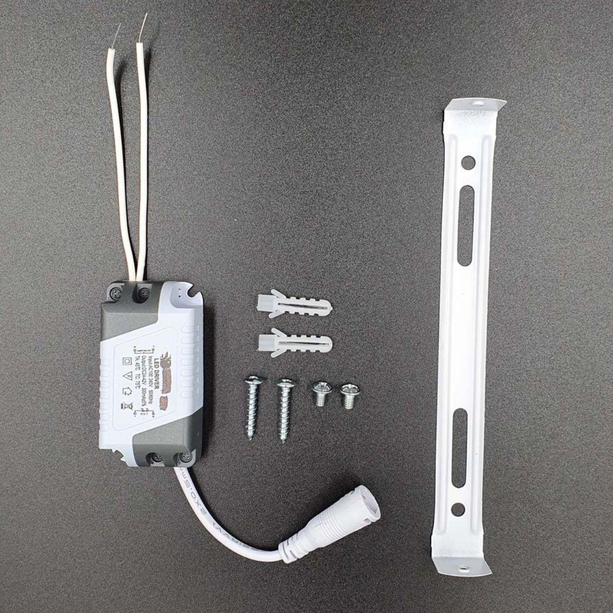 KIT 5 Painel Plafon LED 24w Quadrado Sobrepor Branco Frio Luminária