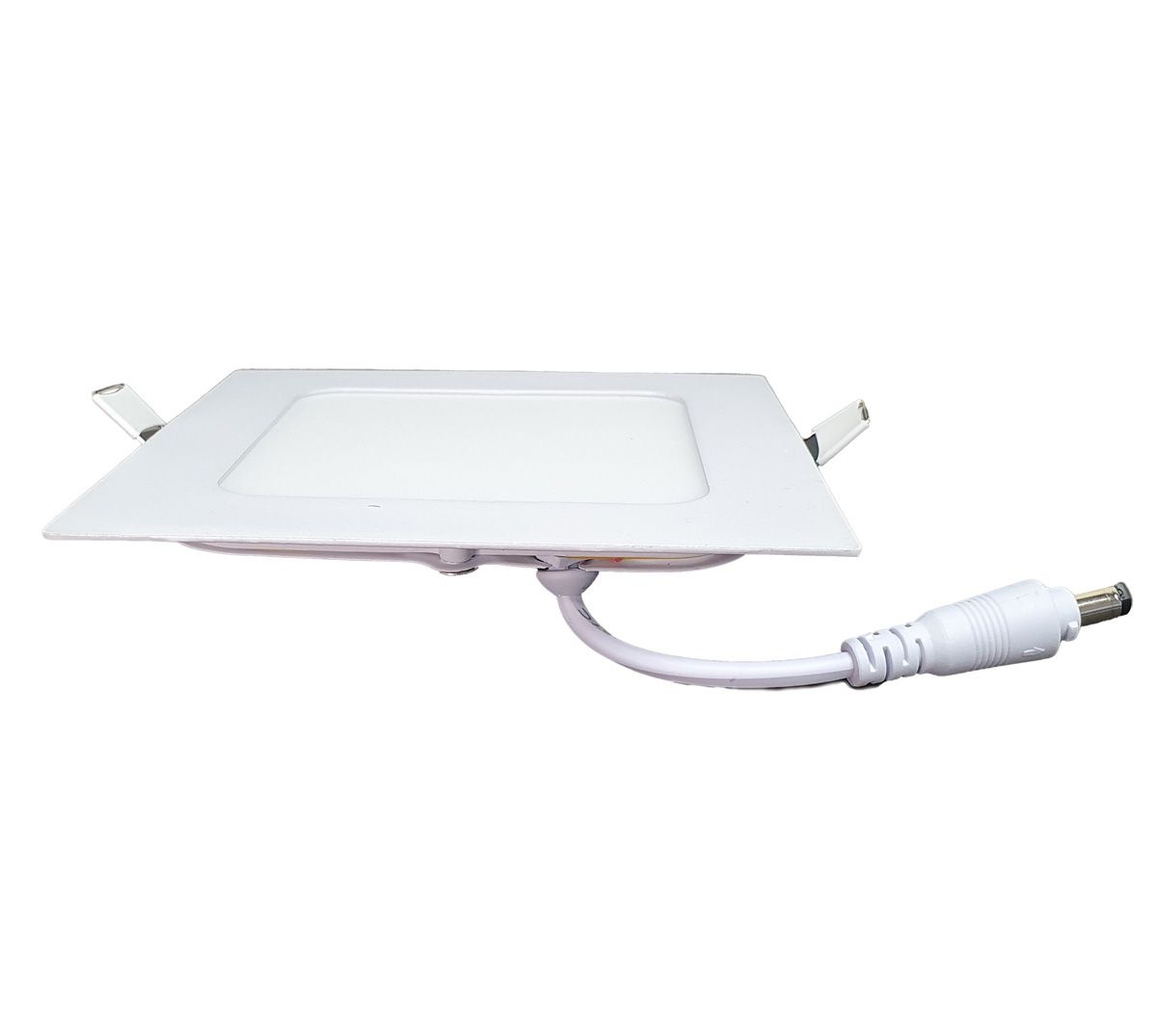 KIT 5 Painel Plafon LED 6w Quadrado Embutir Branco Frio Luminária