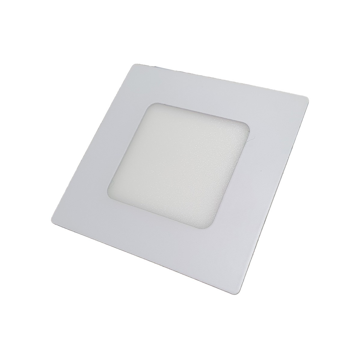 Kit 6 luminaria 3W LED embutir gesso Luz fria 6500k plafon quadrado