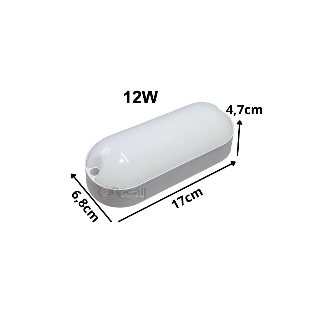 Kit 7 Luminaria Tartaruga Led Sobrepor Branca 12w 6500k