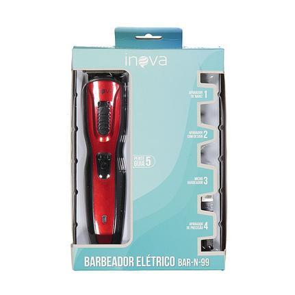 Kit Barbeador Elétrico com Aparadores BAR-N-99 Inova