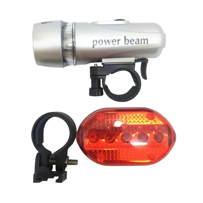 Kit Farol Lanterna LED e campainha buzina Bicicleta Bike Segurança