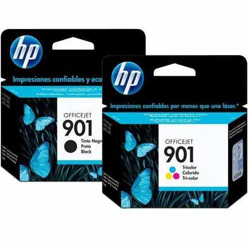 Kit Cartuchos HP901 Preto e Colorido para J4540 J4550 J4580 J4500 J4660 J4680