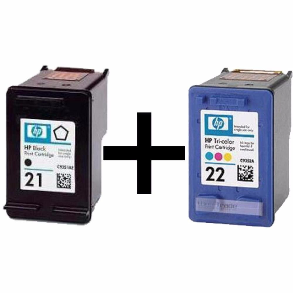 Kit cartuchos HP 21 e 22 para deskjet F4180 D2360 J3680 D2460