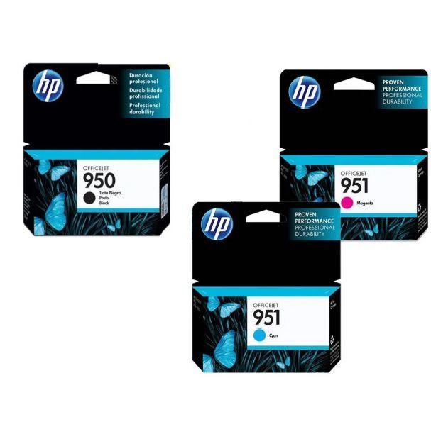 Kit Ciano Magenta Preto HP951 e HP950 para Officejet Pro 8100 8600 PRO8600
