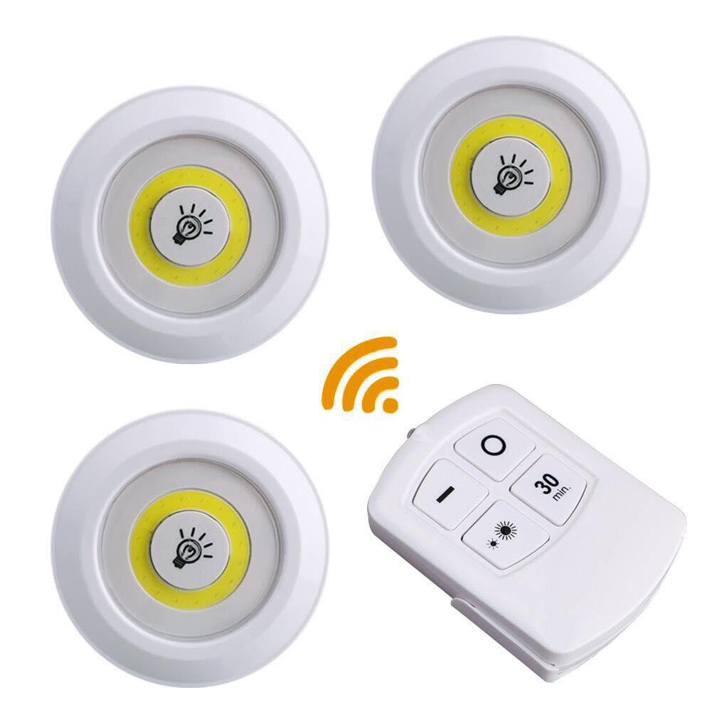 Kit com 3 Lâmpadas de LED com Controle Remoto Sem Fio