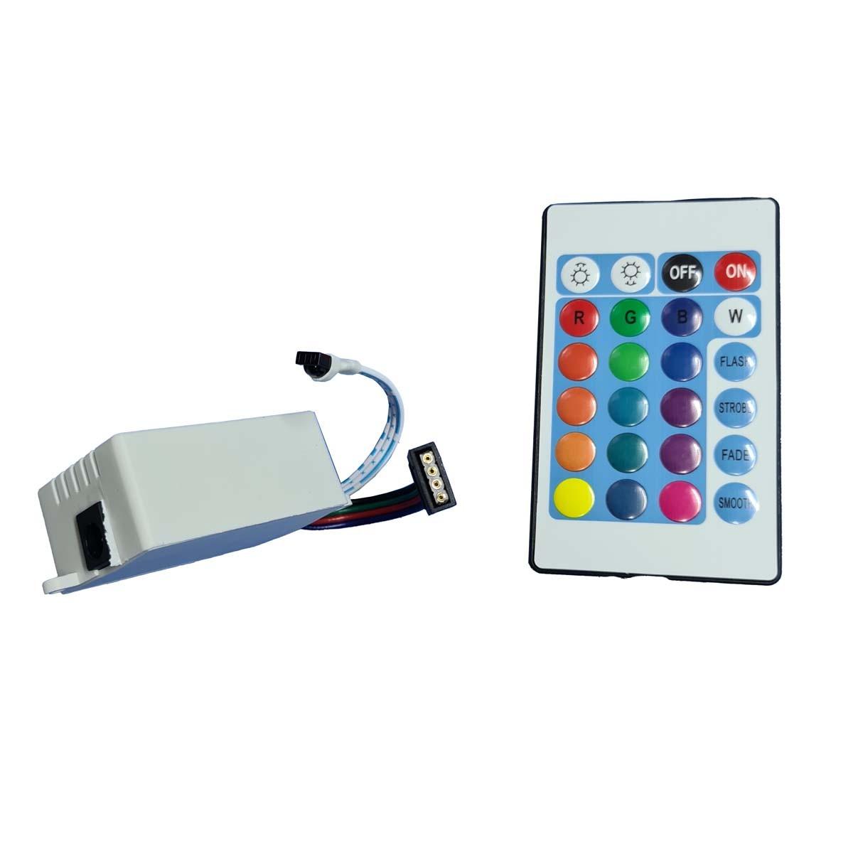 Kit Controle E Controladora De Fita Led Rgb Via 5050 E 3528