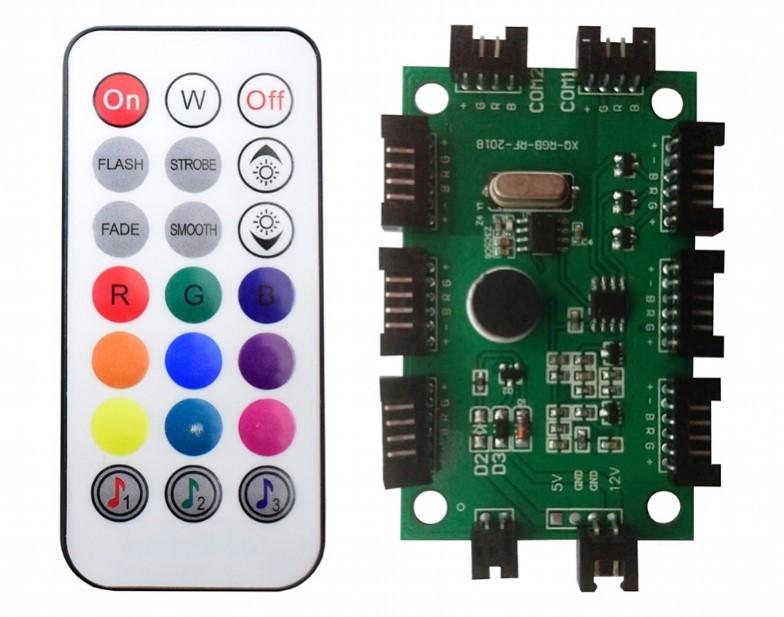 Kit Cooler Fan Ring LED RGB com Controle AF-K1225 Gaming Master